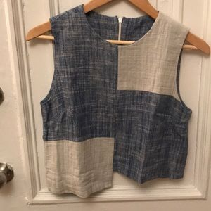 Vintage chambray top
